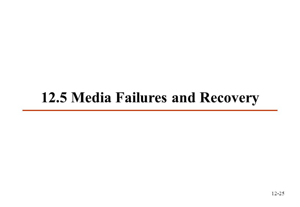 12-25 12.5 Media Failures and Recovery