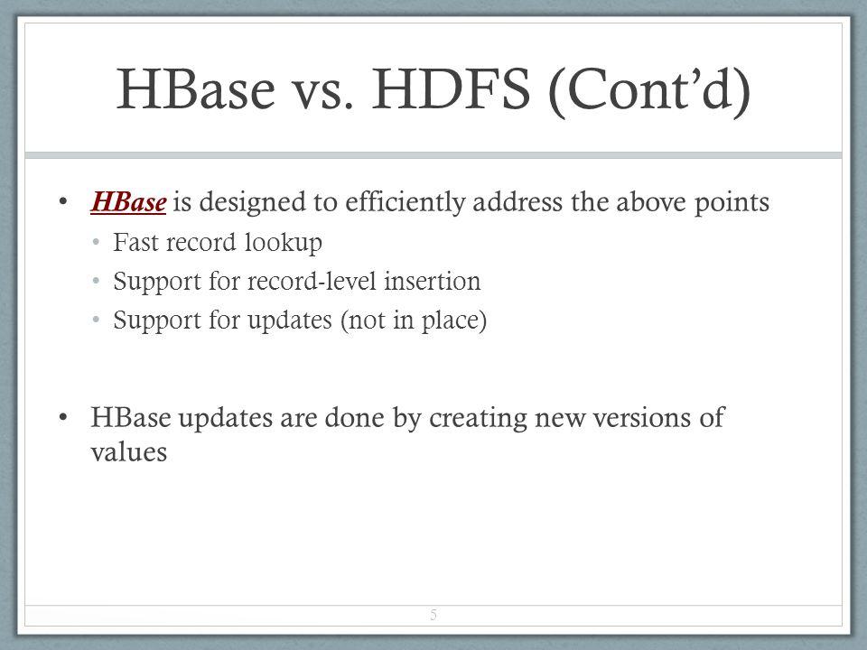 HBase vs.