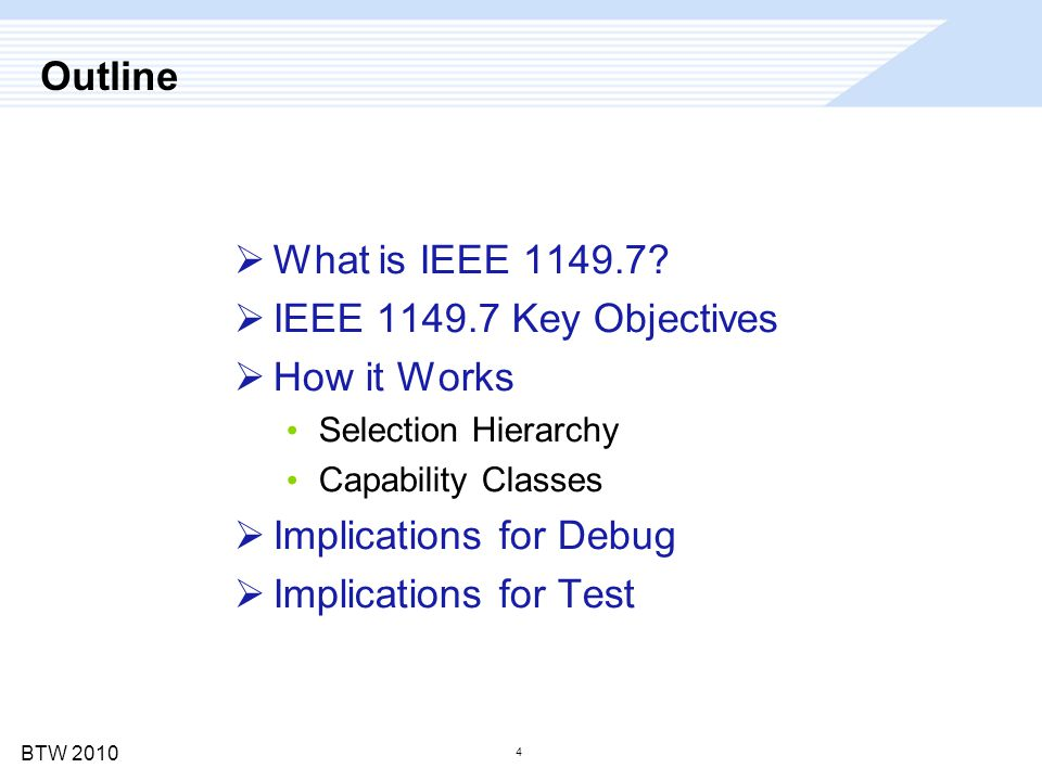 BTW 2010 What is IEEE 1149.7?