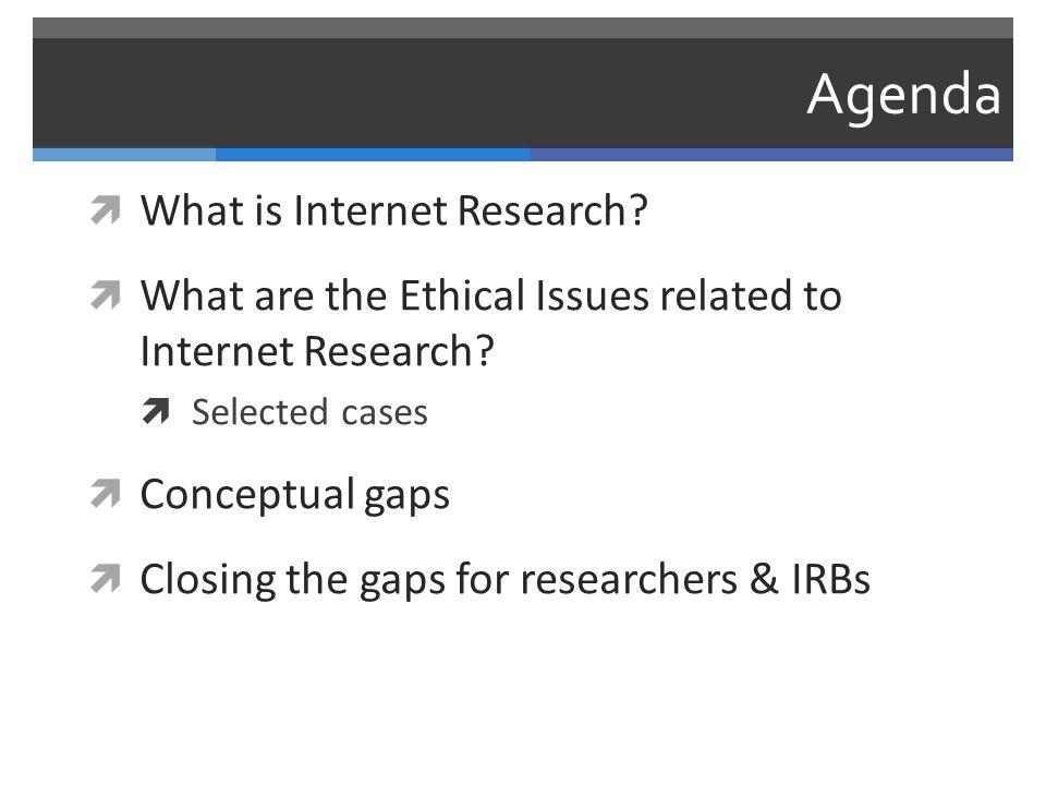 Conceptual Gap: Human Subjects  Researchers (esp.