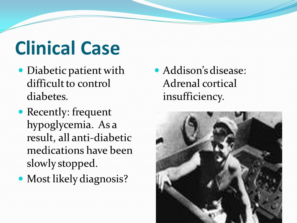 Clinical Case Diabetic patient with difficult to control diabetes.
