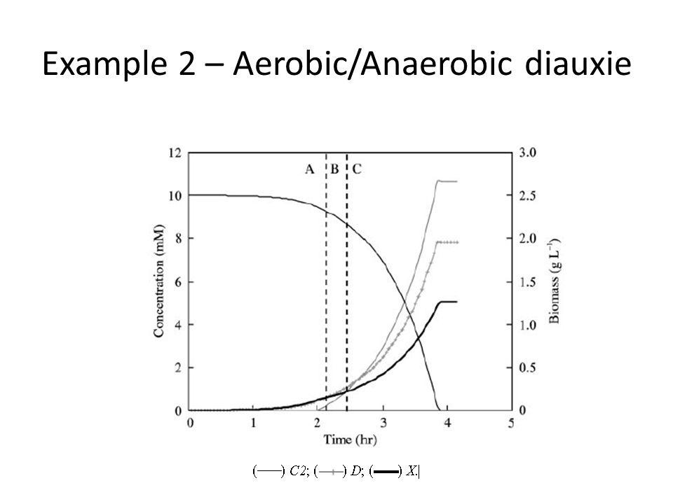 Example 2 – Aerobic/Anaerobic diauxie