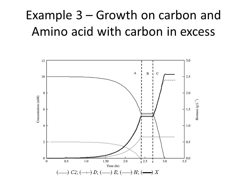 Example 3 – Growth on carbon and Amino acid with carbon in excess