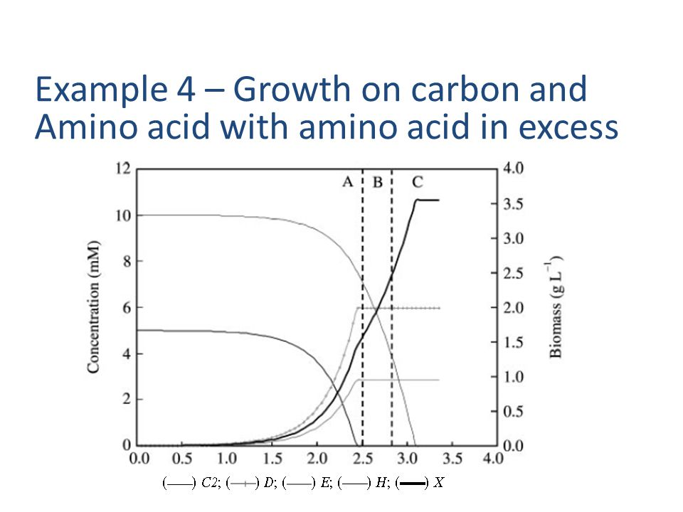 Example 4 – Growth on carbon and Amino acid with amino acid in excess