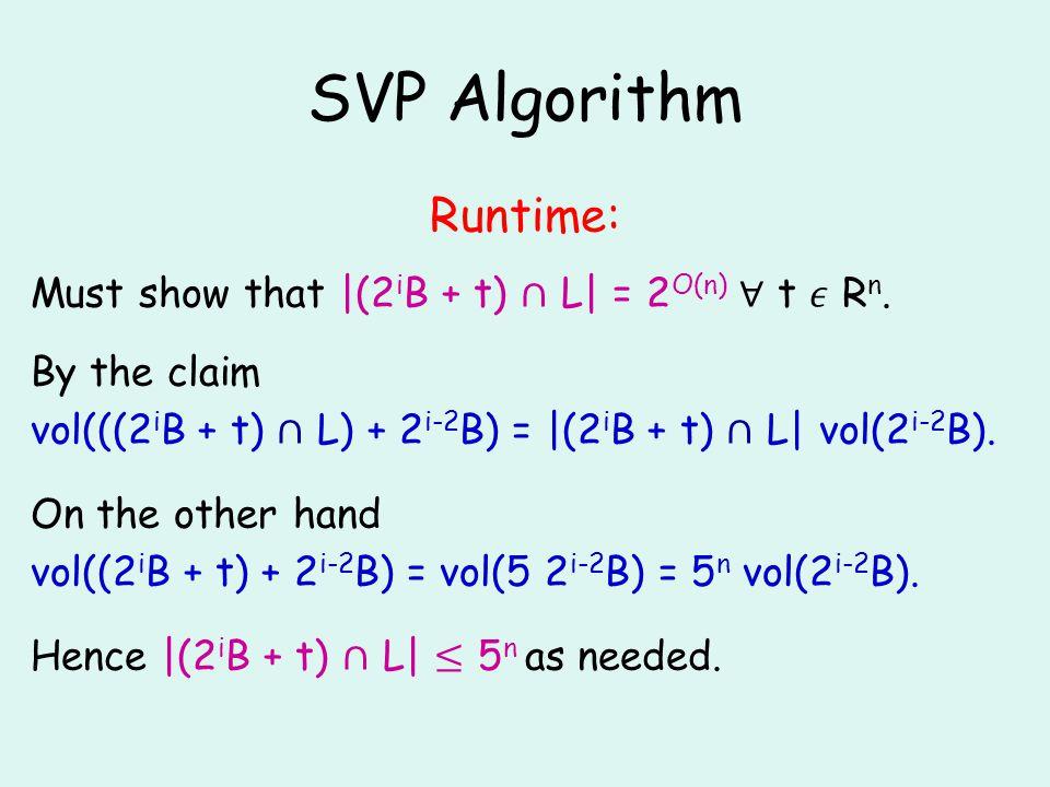 SVP Algorithm