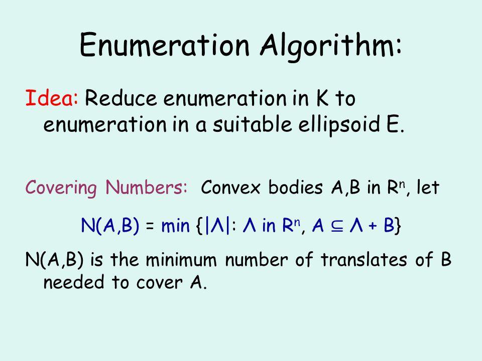 Enumeration Algorithm: