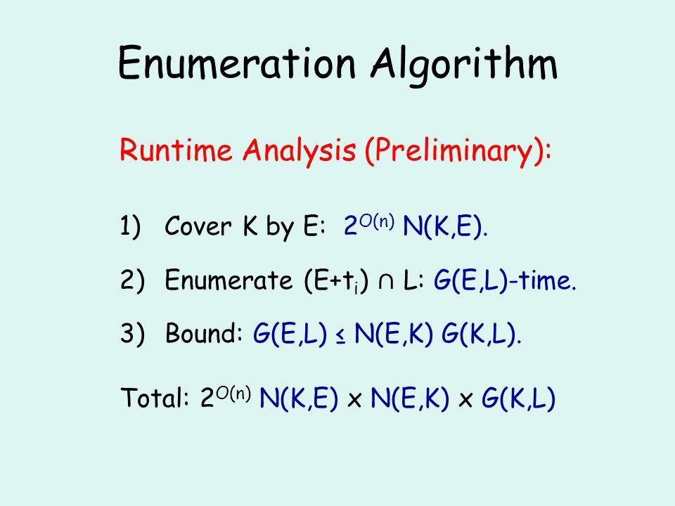 Enumeration Algorithm