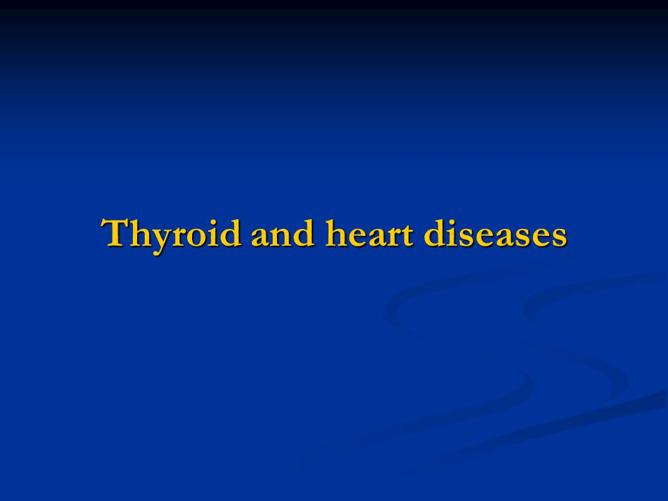 A relation between the thyroid and the heart has long been recognized.