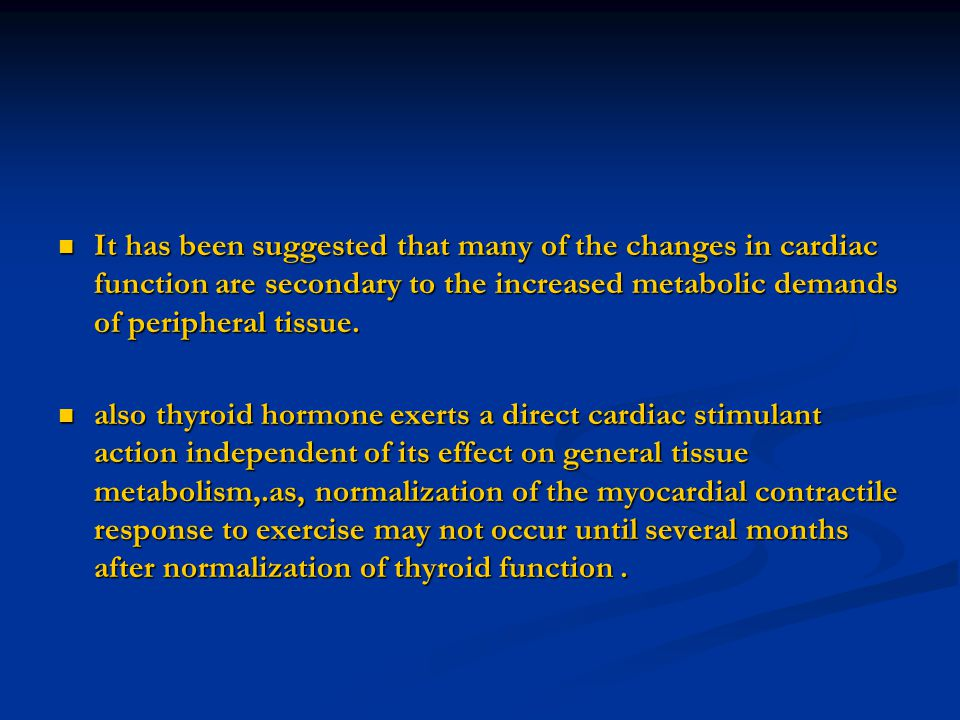 The predominant peripheral action of amiodarone on thyroid hormones is the inhibition of the deiodination of T4 to T3.