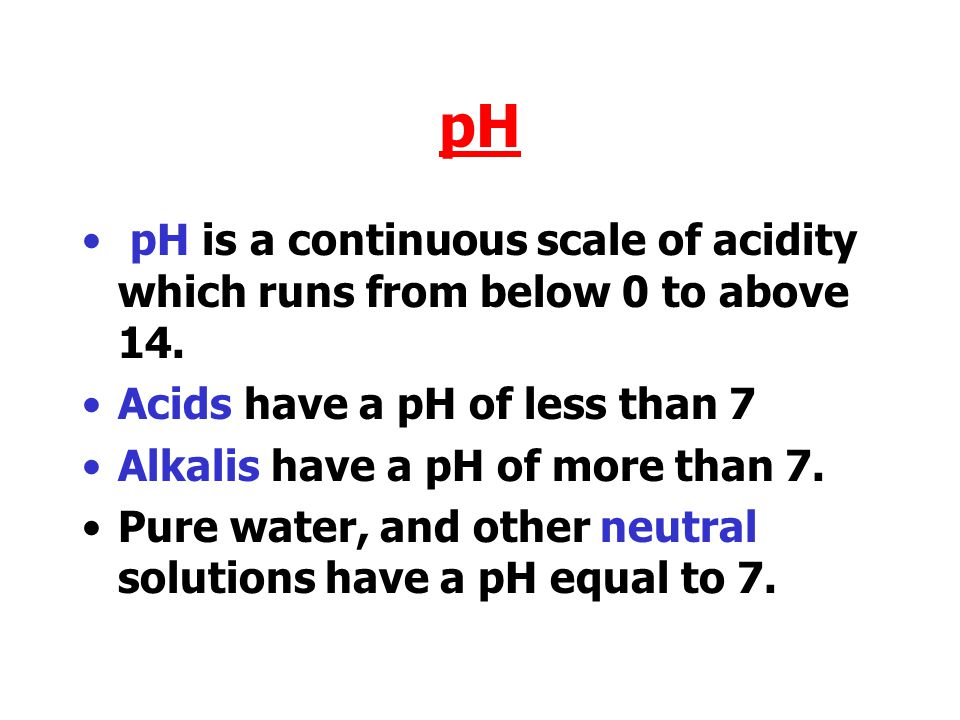 During a neutralisation reaction then the pH of the acid involved moves up nearer to 7.