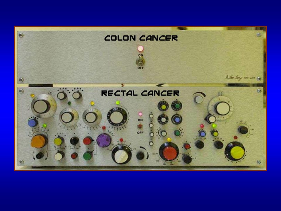RECTAL CANCER LOCAL EXCISION pro –low morbidity/mortality –avoids sexual/urinary/bowel dysfunction –avoids colostomy con –nodal status not pathologically assessed –involved nodes not excised –.