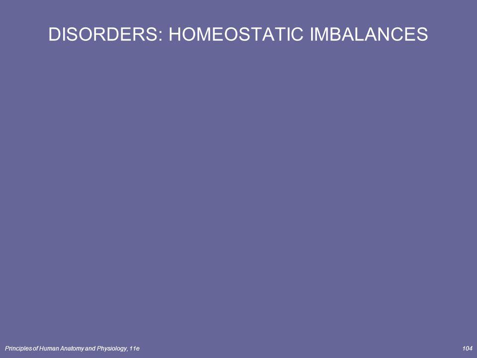 Principles of Human Anatomy and Physiology, 11e104 DISORDERS: HOMEOSTATIC IMBALANCES