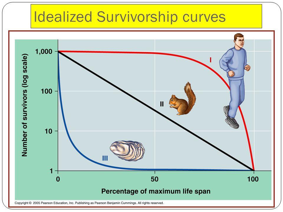 Idealized Survivorship curves
