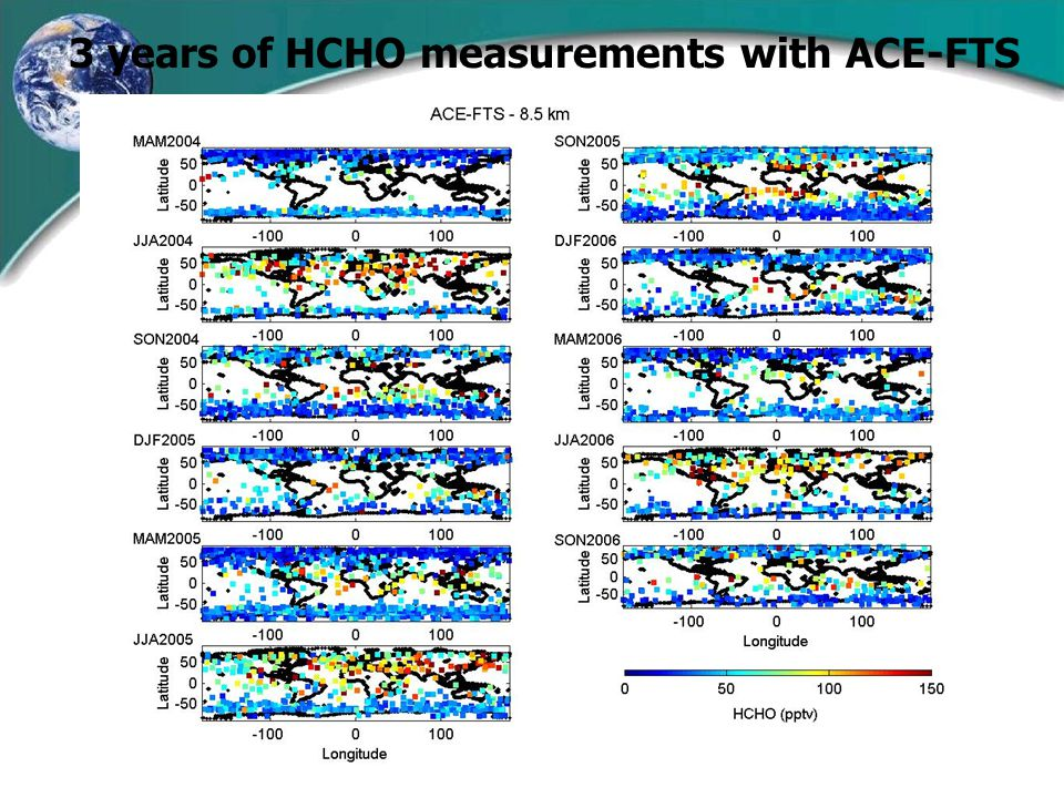 3 years of HCHO measurements with ACE-FTS