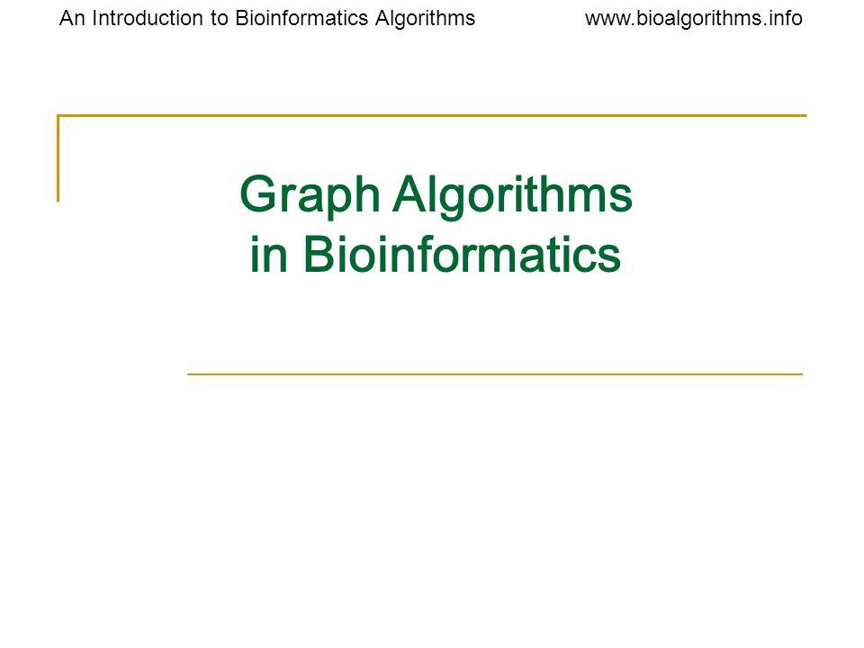 www.bioalgorithms.infoAn Introduction to Bioinformatics Algorithms Graph Algorithms in Bioinformatics