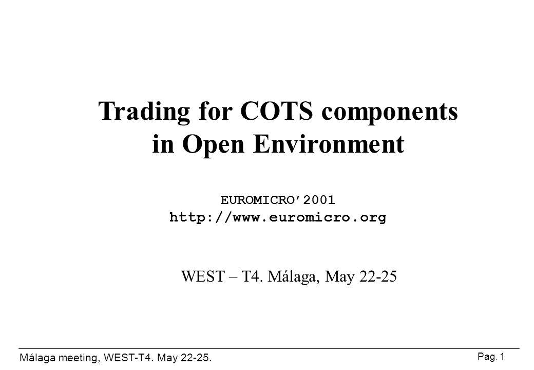 Málaga meeting, WEST-T4. May 22-25. Pag.