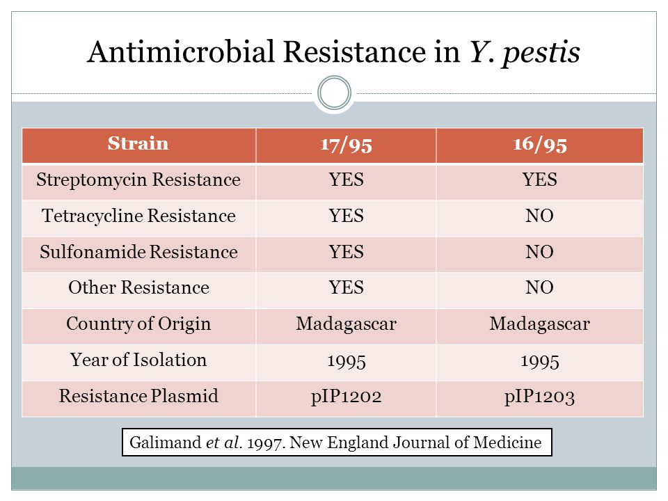 Antimicrobial Resistance in Y.