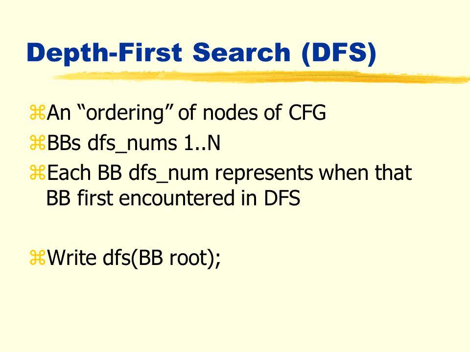 1 2 3 4 7 5 6 8 9 10 An Example (Dominators)