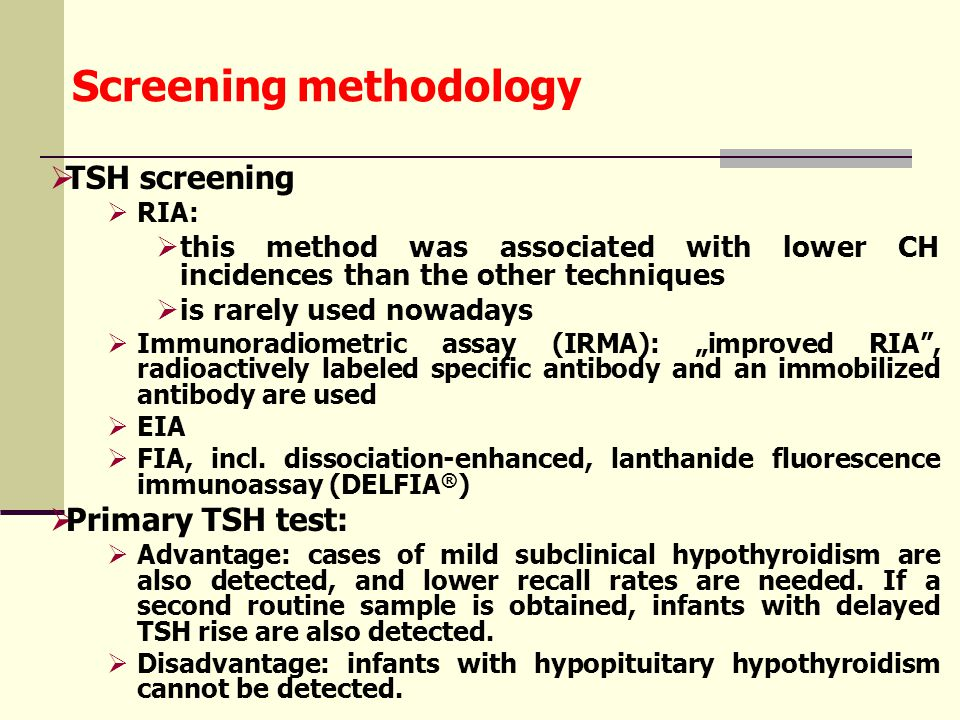 Limitations of first-tier screening of CAH  First, levels of 17-OHP are normally high at birth and decrease rapidly during the first few postnatal days.