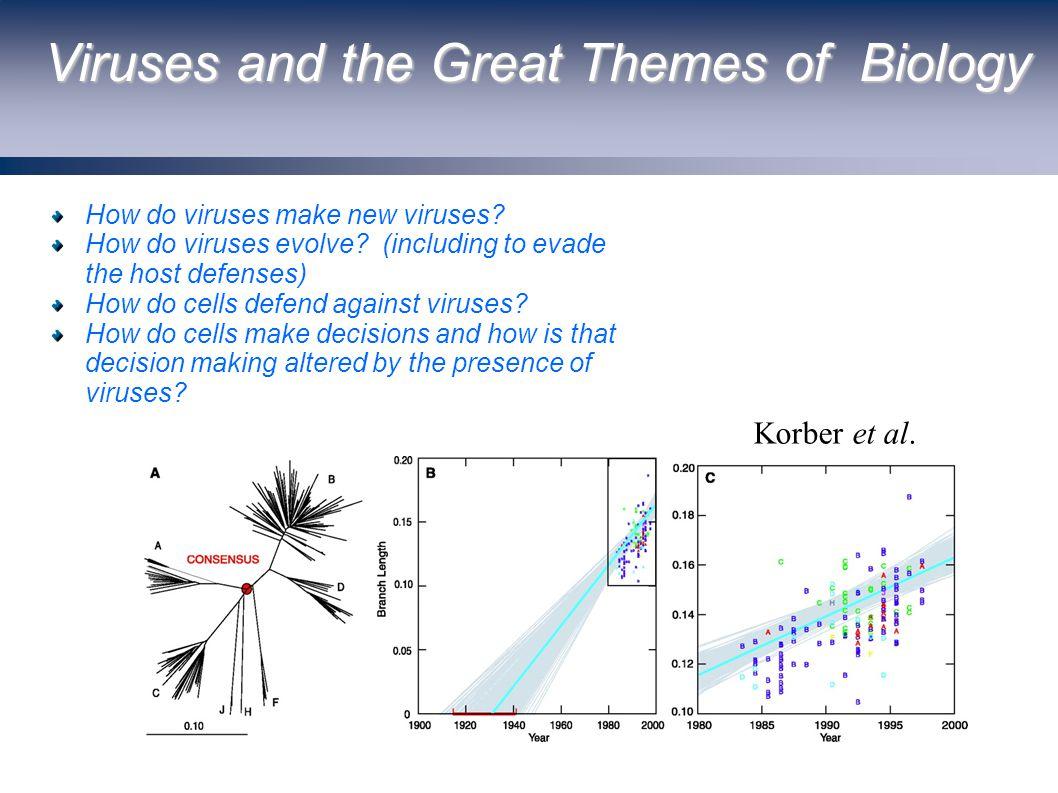 Viruses and the Great Themes of Biology How do viruses make new viruses.