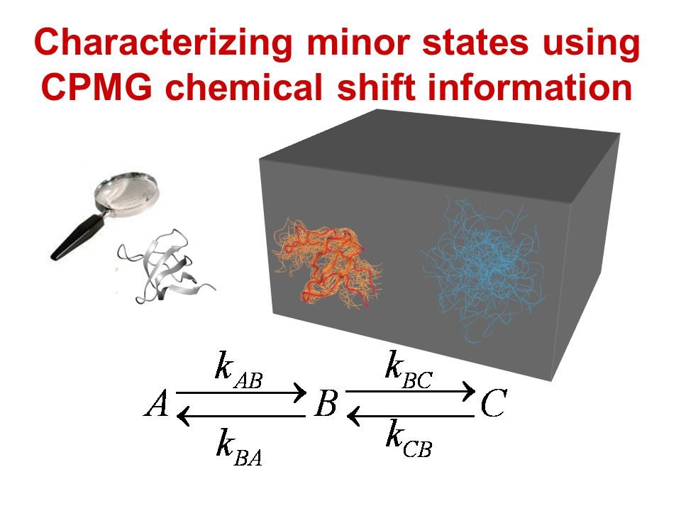 Characterizing minor states using CPMG chemical shift information