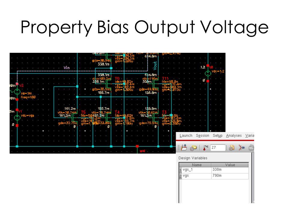 Property Bias Output Voltage