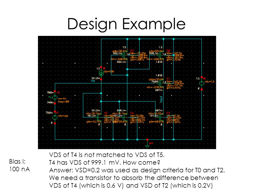 Design Example VDS of T4 is not matched to VDS of T5.