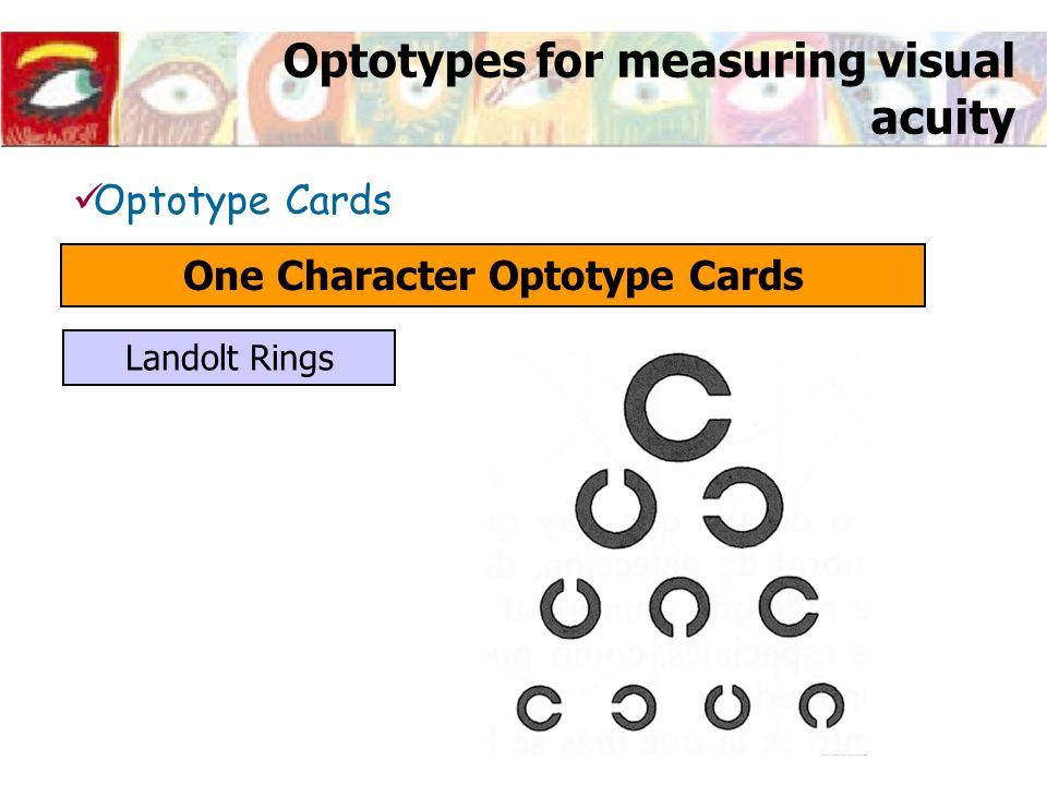 Optotype Cards One Character Optotype Cards Landolt Rings