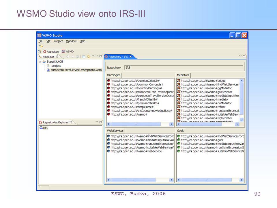 ESWC, Budva, 200690 WSMO Studio view onto IRS-III