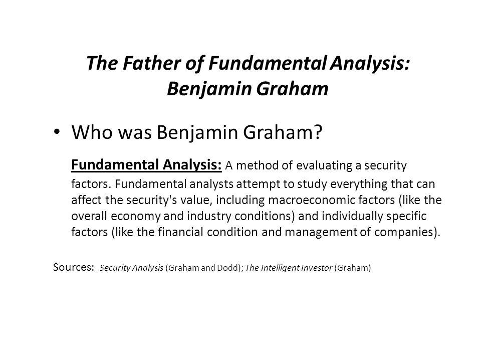 The Father of Fundamental Analysis: Benjamin Graham Who was Benjamin Graham.