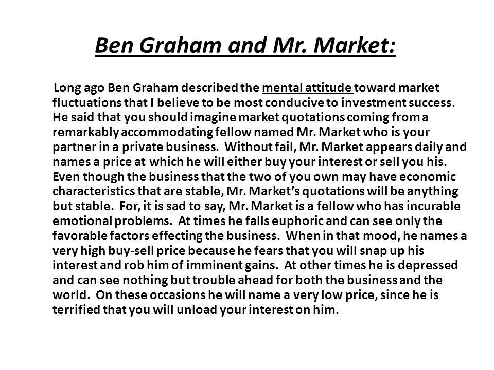 Ben Graham and Mr.