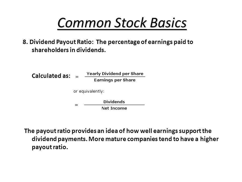 Common Stock Basics 8.