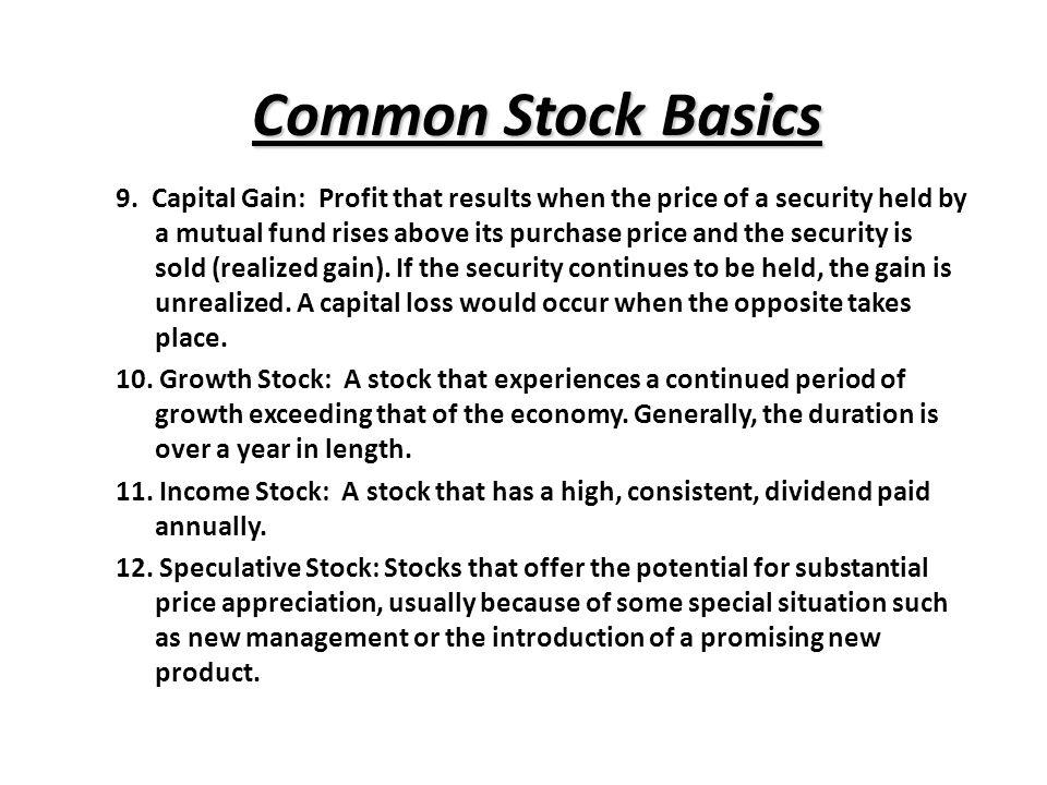 Common Stock Basics 9.