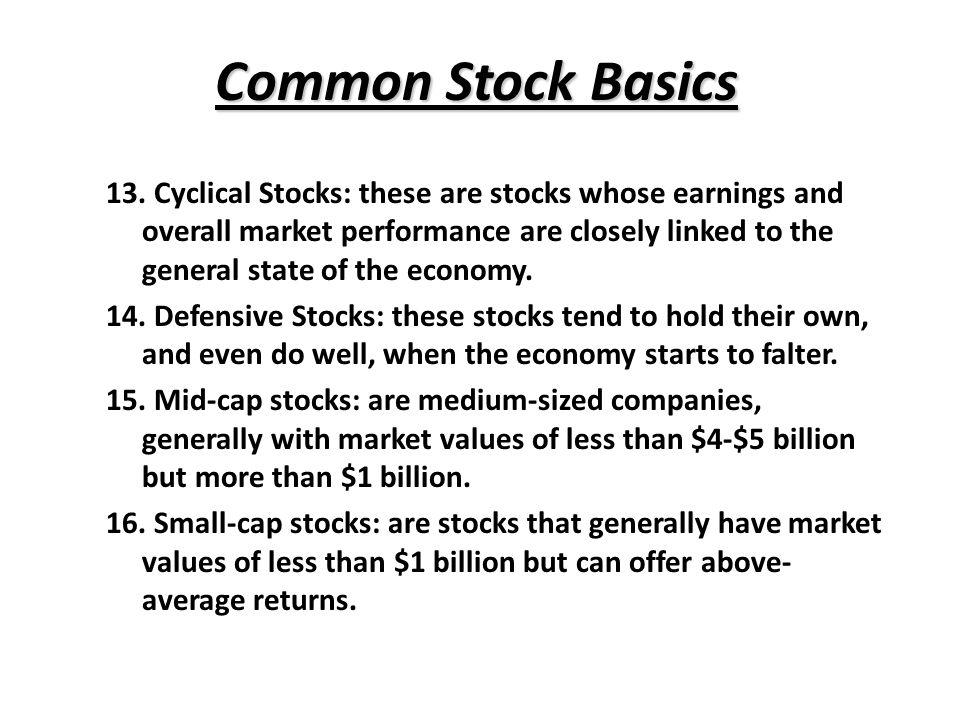 Common Stock Basics 13.