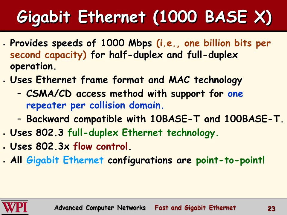 Gigabit Ethernet Figure 4-22.(a) A two-station Ethernet.