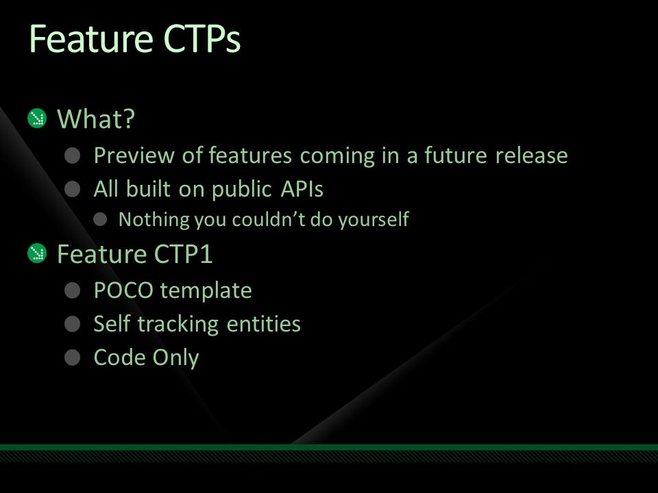 Feature CTPs What.