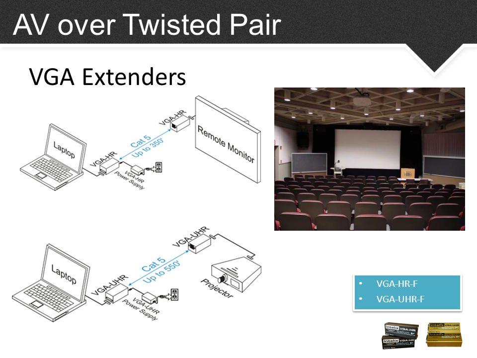 VGA Extenders VGA-HR-F VGA-UHR-F VGA-HR-F VGA-UHR-F AV over Twisted Pair