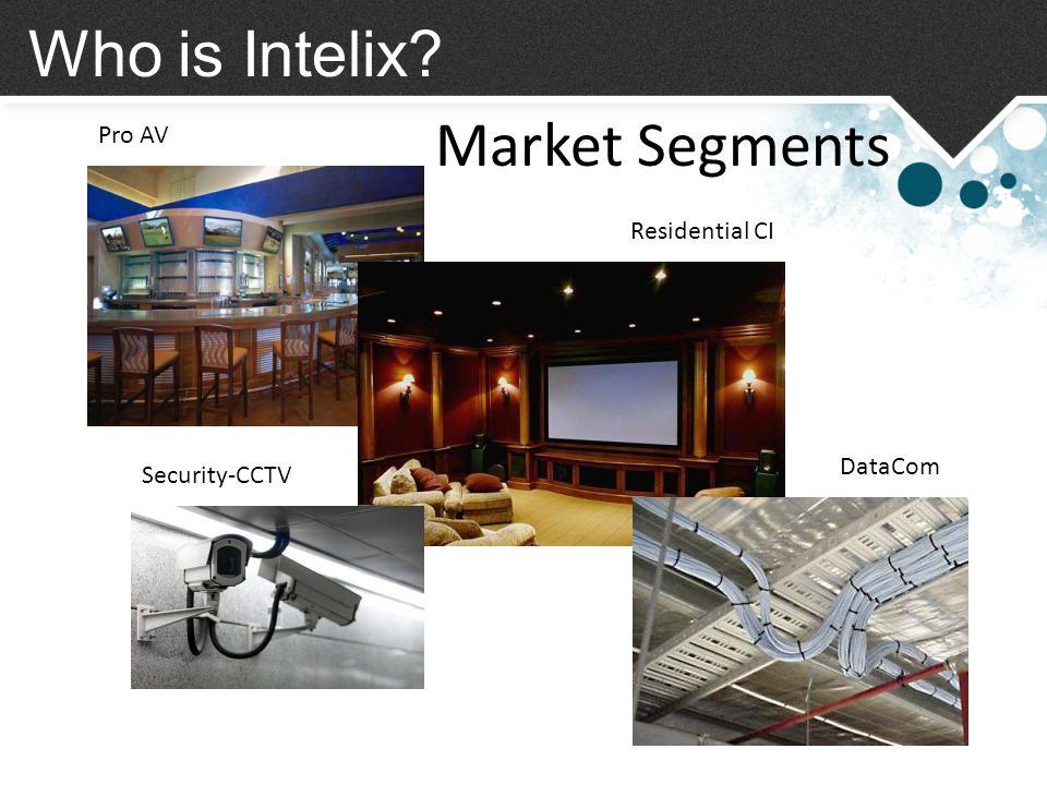 Who is Intelix Market Segments Pro AV Residential CI DataCom Security-CCTV