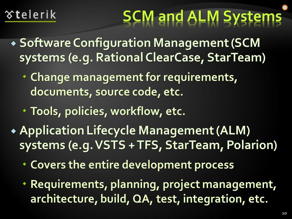  Software Configuration Management (SCM systems (e.g.