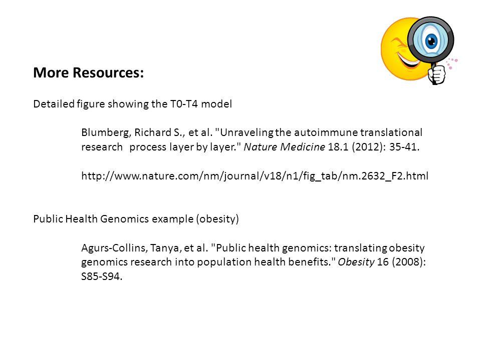 More Resources: Detailed figure showing the T0-T4 model Blumberg, Richard S., et al.