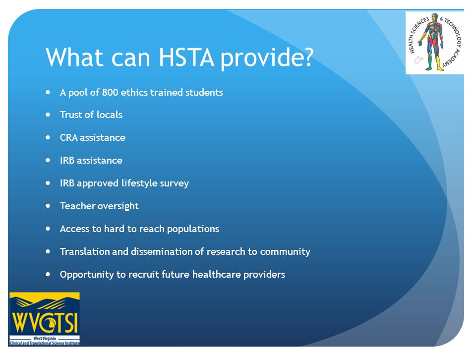 What can HSTA provide.