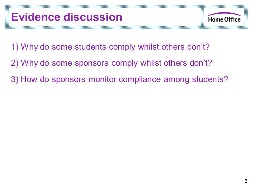 Evidence discussion 1) Why do some students comply whilst others don't.