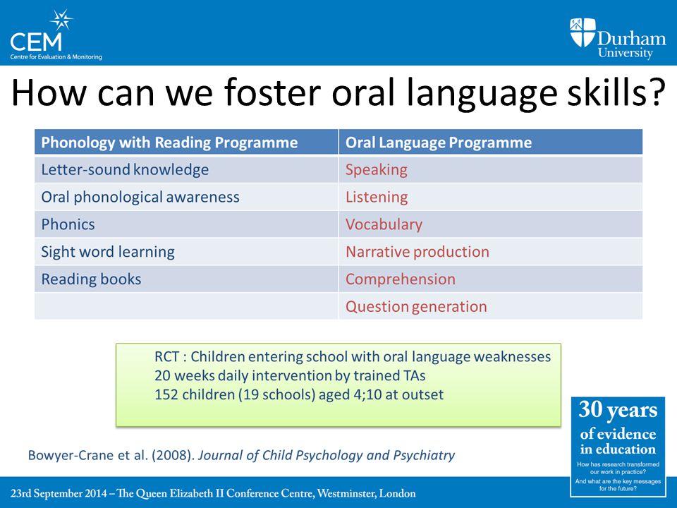 Reading vs. Language Intervention