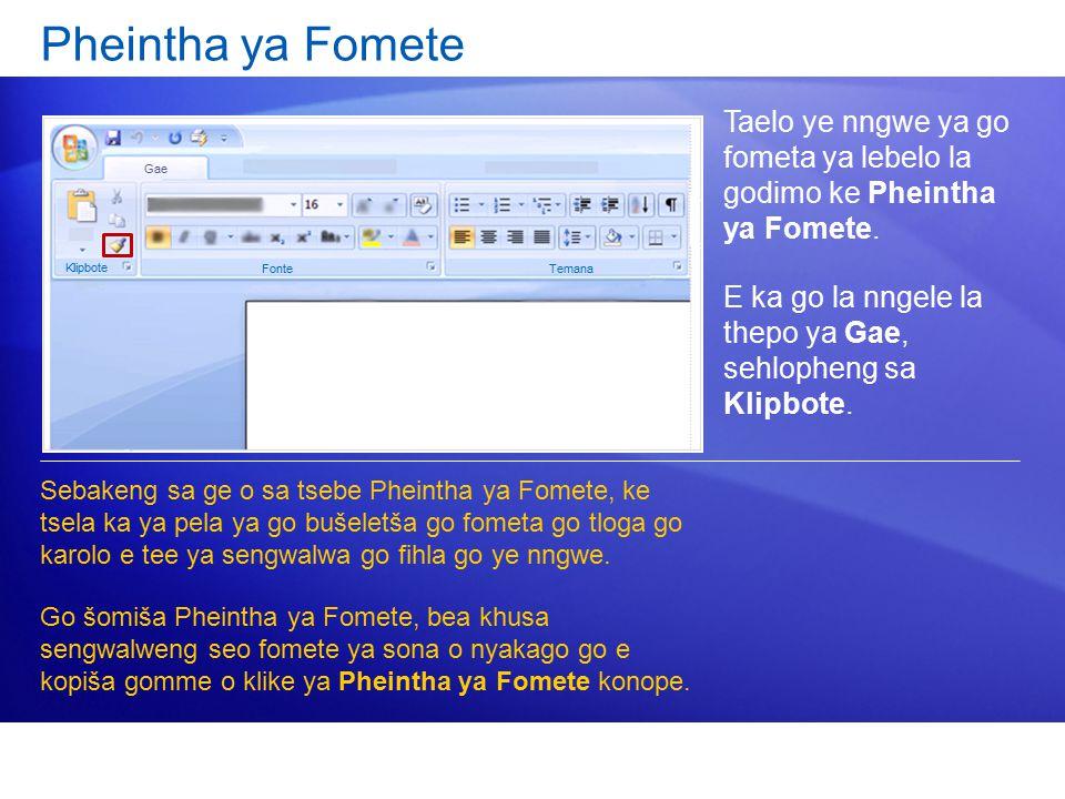 Pheintha ya Fomete Taelo ye nngwe ya go fometa ya lebelo la godimo ke Pheintha ya Fomete.