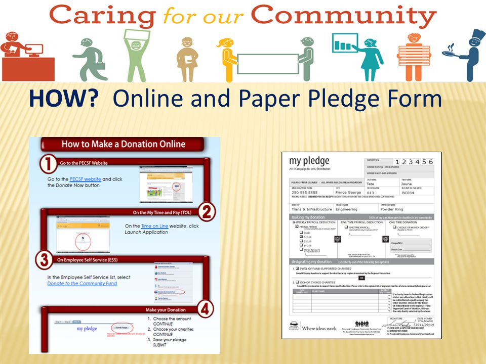 HOW Online and Paper Pledge Form