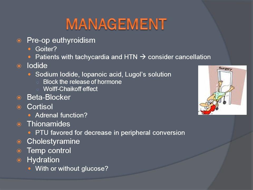  Pre-op euthyroidism Goiter.
