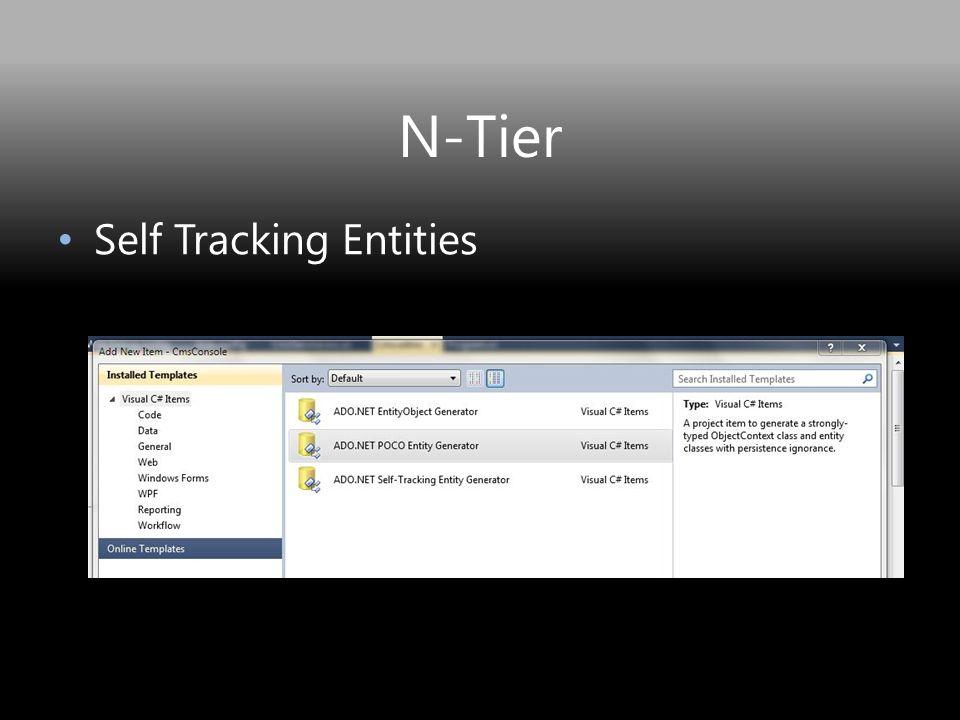 N-Tier Self Tracking Entities