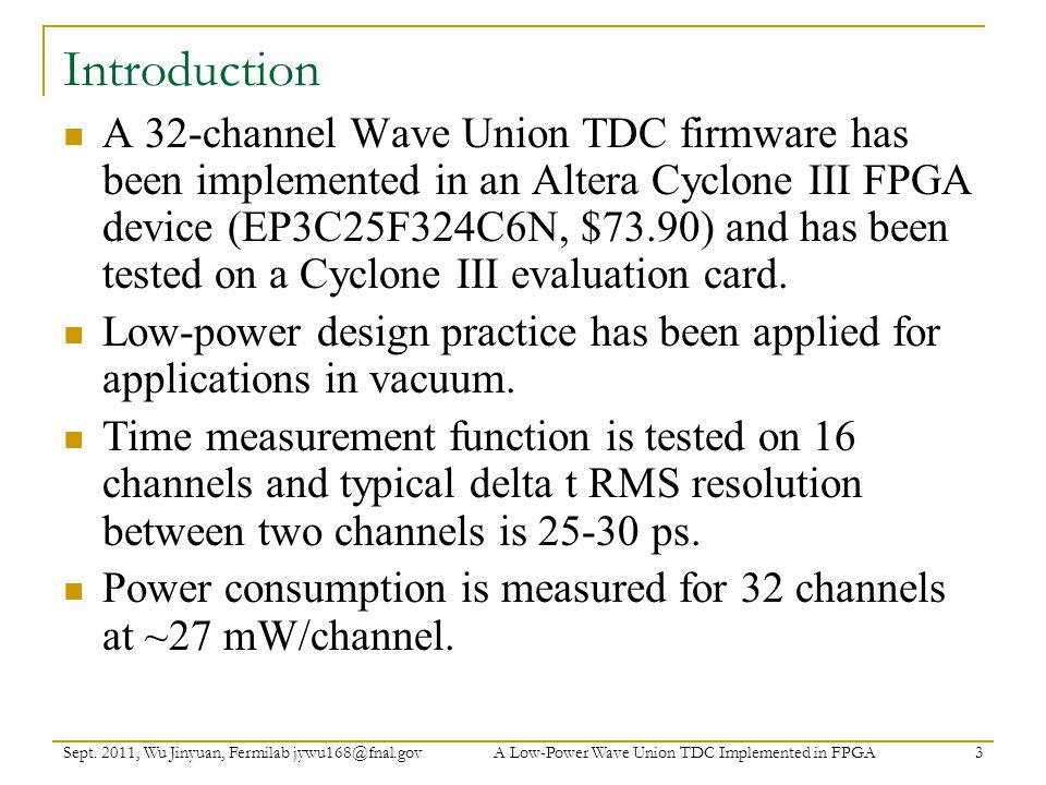 Low-Power Design Practice: Wave Union Sept.