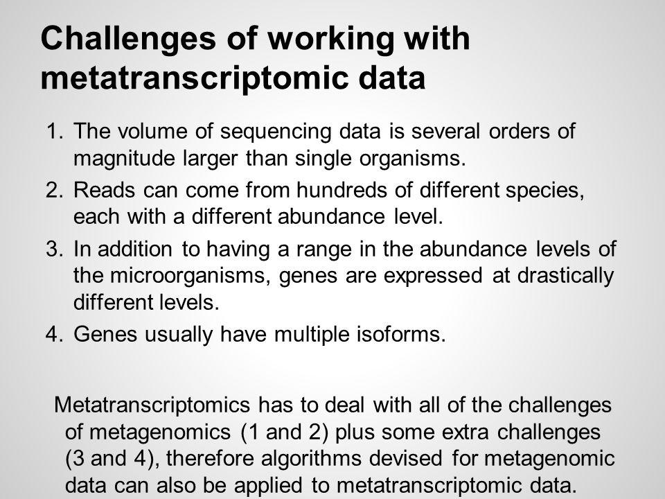 (Meta)Transcriptome assembly types Genome independent reconstruction (de novo): de Bruijn k-mer graph ❖ Velvet (2008) ❖ Trinity (2011) Genome guided reconstruction: spliced read mapping exon identification splice graph ❖ Cufflinks (2010) ❖ TRIP (2012)