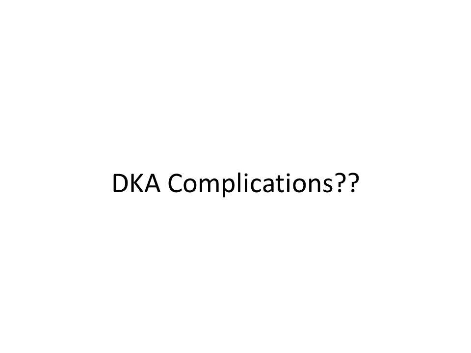 DKA Complications